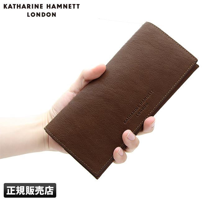 【カード20倍|5/30限定】【在庫限り】キャサリンハムネット 財布 KATHARINE HAMNETT 490-59303 キャメロ 長財布 ラクダ革