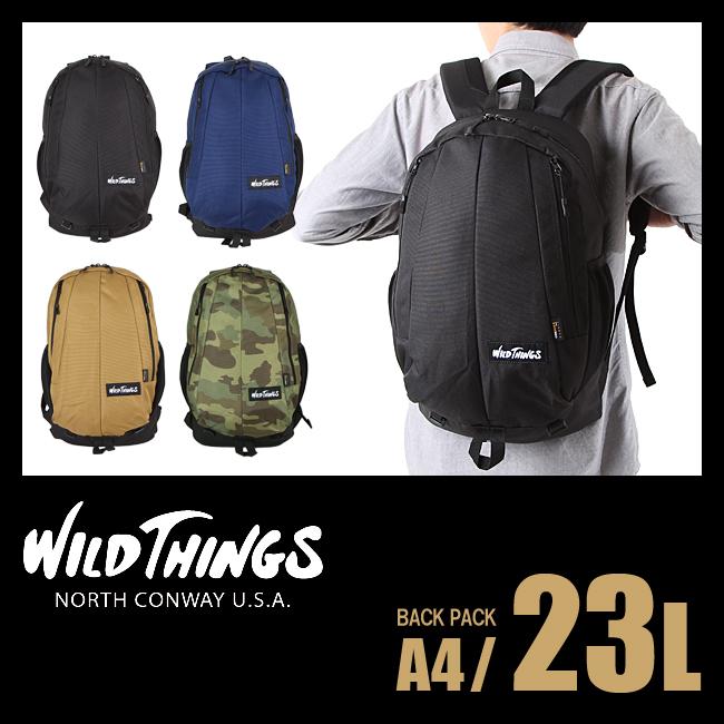 【日本正規品】ワイルドシングス WILD THINGS リュック 23L バックパック デイパック リュックサック 大容量 アウトドアブランド メンズ レディース 380-0003