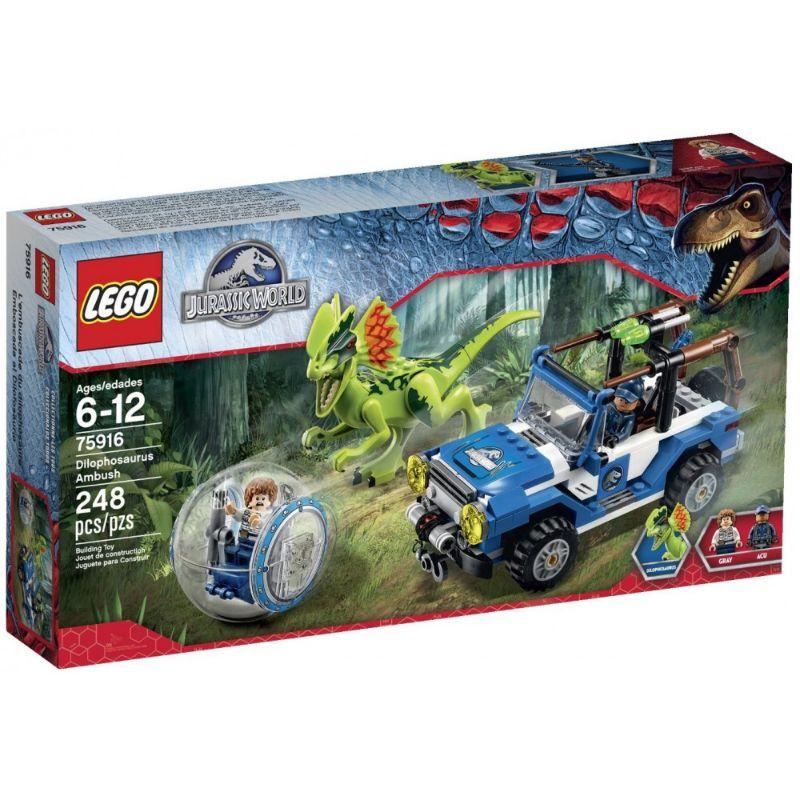 レゴ (LEGO) ジュラシック・ワールド ディロフォサウルスの奇襲 75916