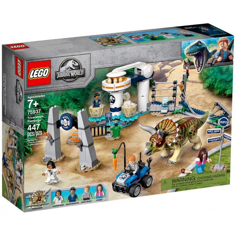 【7/7発売予定】レゴ (LEGO) ジュラシック・ワールド dinosaur toy playset for kids to role-play a Triceratops escape! 75937