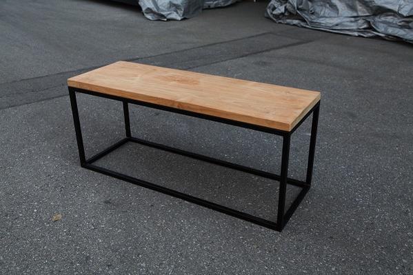 アイアンウッドキューブベンチ 34258【送料無料】(ガーデンベンチ、ガーデンチェア、椅子、イス)