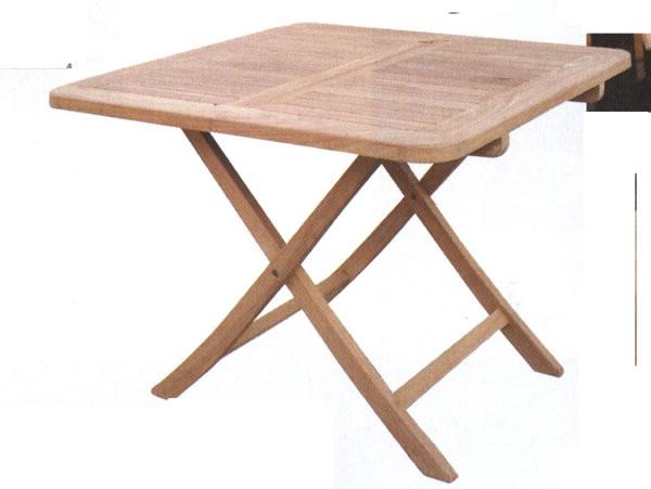 折り畳みスクエアテーブルB 20713【送料無料】(ガーデンテーブル、ダイニングテーブル、木製テーブル)
