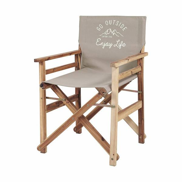 CAPTAIN STAG キャプテンスタッグ モンテ FDディレクターチェア カーキ UP-1012 【送料無料】(レジャーチェアー、ガーデンチェアー、椅子、イス、キャンプ、アウトドア)