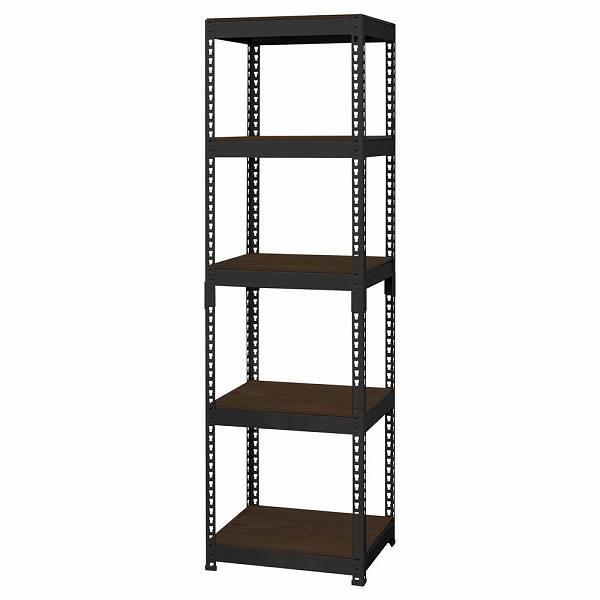シェルフ5段 幅51cm MK-855NBK ブラック 【送料無料】(オープンラック、シェルフ、リビング家具、収納家具、本棚、書棚)