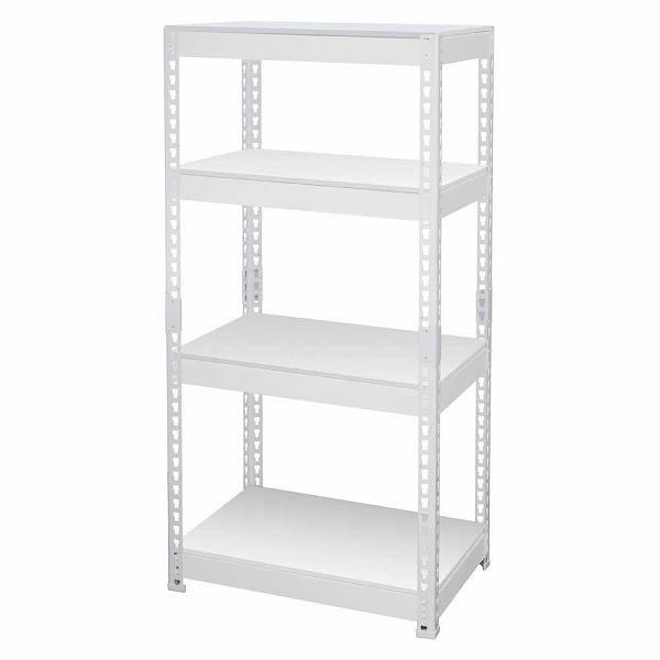 シェルフ4段 幅61cm MK-KT24NWH ホワイト 【送料無料】(オープンラック、シェルフ、リビング家具、収納家具、本棚、書棚)