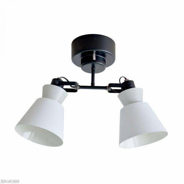 ELUX(エルックス) LARKS(ラークス) 2灯シーリングスポットライト ホワイト LC10976-WH 【送料無料】(天井照明、インテリアライト)