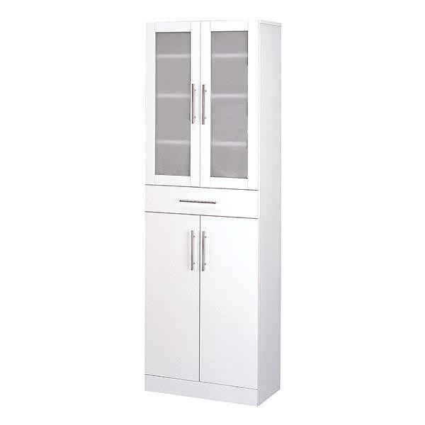 カトレア 食器棚60-180 23461 【送料無料】(食器棚、キッチンボード、キッチン収納家具)