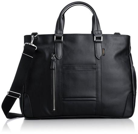 【日本製】【EVERWIN】ビジネスバッグ メンズ レディース 革付属 軽量 (21598)【送料無料】(ビジネスバッグ、ブリーフケース、リクルートバッグ、カバン、かばん、鞄)como-1087237
