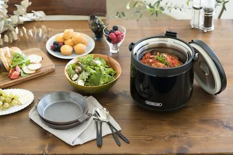 【アイリスオーヤマ】【調理器具】ダブル真空保温調理鍋 おまかせさん RWP-N45 ブラック(ブラック)  【送料無料】(調理器具、保温鍋、保温調理、キッチン用品)
