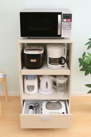 <title>省スペースに家電を設置収納できるキッチンボードです キッチン家具 お得クーポン発行中 キッチンボード KBD-500 オフホワイト 250221 送料無料 レンジボード キッチンキャビネット 食器棚 キッチンラック</title>