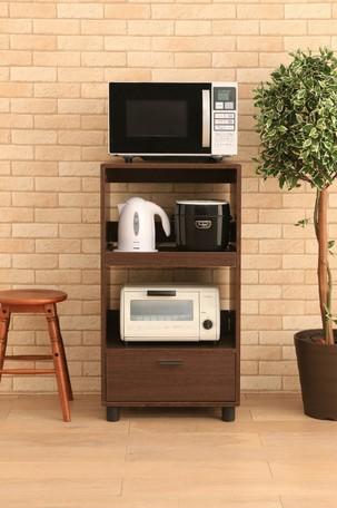 <title>省スペースに家電を設置収納できるキッチンボードです キッチン家具 キッチンボード KBD-500 ブラウンオーク 250223 送料無料 レンジボード キッチンキャビネット 新品未使用正規品 食器棚 キッチンラック</title>