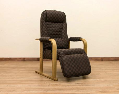 レバー式リクライニングチェアフット付 BR/NA S3-07【送料無料】(リクライニングチェアー、パーソナルチェア、椅子、イス)
