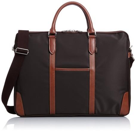 【日本製】【EVERWIN】ビジネスバッグ メンズ レディース 革付属 軽量 ブラウン(21595) 【送料無料】(メンズバッグ、トートバッグ、ビジネスバッグ、カバン、かばん、鞄)