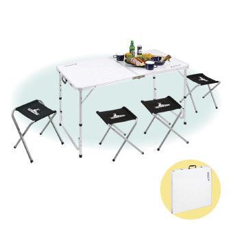 (レジャーテーブル&チェア)キャプテンスタッグ ラフォーレ テーブル・チェアセット UC-0004【送料無料】(キャンプ用品、バーベキュー用品、イス、椅子、テーブル)
