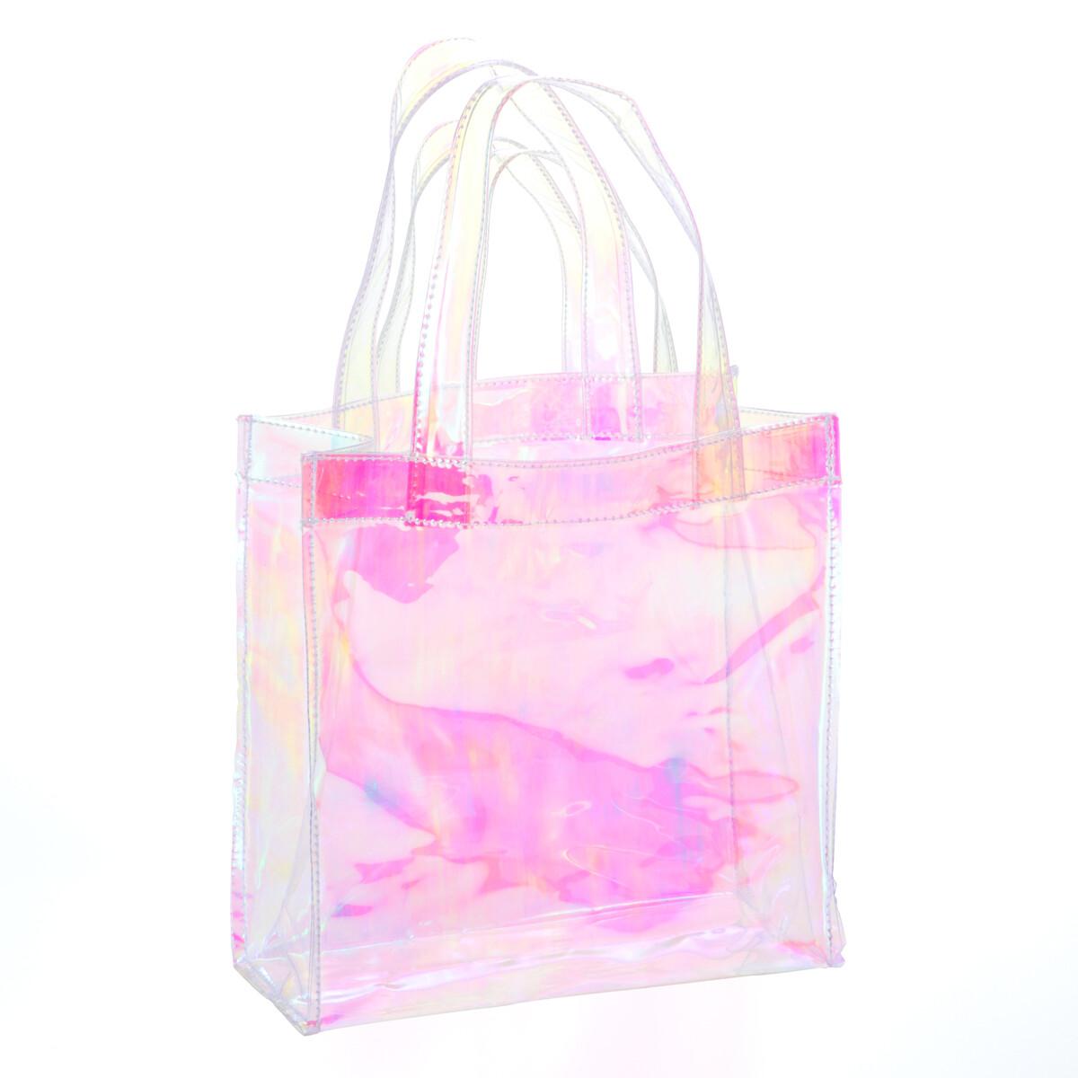 ミラースモーク 透明バッグ SK-2323 10枚セット【送料無料】(透明ビニールバッグ、プールバック、ショルダーバッグ、トートバッグ、手提げカバン、かばん、鞄)
