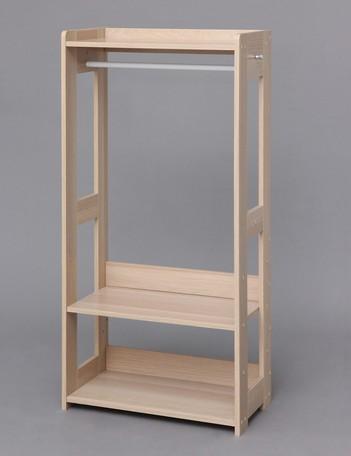 【ハンガー】木製ワードローブ KWR-1260 ナチュラル(228064) 【送料無料】(ハンガー、ハンガーラック、服吊り、ワードローブ、収納家具)