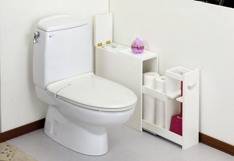 スライドトイレラック/アイボリー〈CH-359〉(18106) 【送料無料】(トイレ収納、収納ラック、すき間収納、キャビネット、ストッカー)
