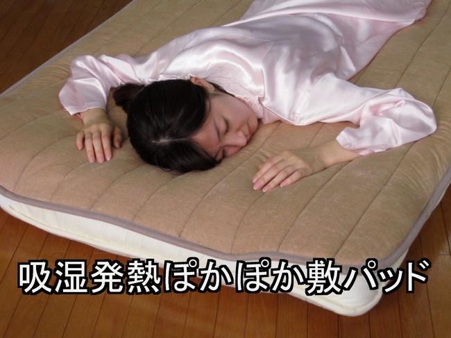 【日本製 敷パッド】吸湿発熱ぽかぽか敷パッド  ベージュ系・ブラウン系(soli-pad)【送料無料】(ベッドパッド、寝具、敷パッド)