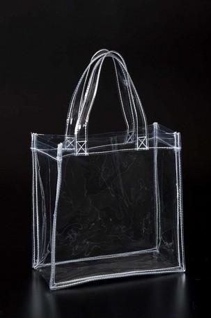 透明ビニールバッグCB-2020 100枚 【送料無料】(プールバック、ショルダーバッグ、トートバッグ、手提げカバン、かばん、鞄)