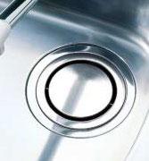 ほとんどの流し台メーカーの排水口にぴったり! 流し用回転排水プレート SP-205 【送料無料】(キッチン用品、流し台、水回り、排水溝)