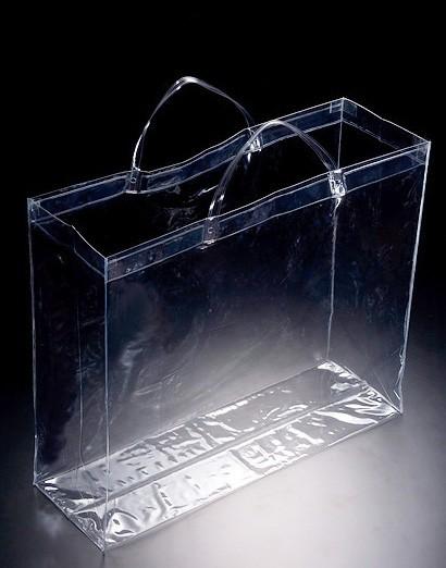 透明ビニールバッグ SB-6050 10枚  【送料無料】(プールバック、ショルダーバッグ、トートバッグ、手提げカバン、かばん、鞄)