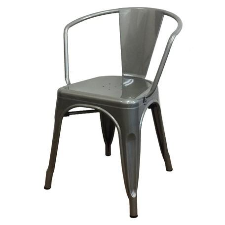 ≪沖縄・離島へは配達できません。≫(納期1週間程度)ブルックリンスタイル/カフェチェア/Aチェア/スタッキング/ダイニングチェア シルバー(3MC058) 1脚【送料無料】(スツール、イス、椅子、いす)