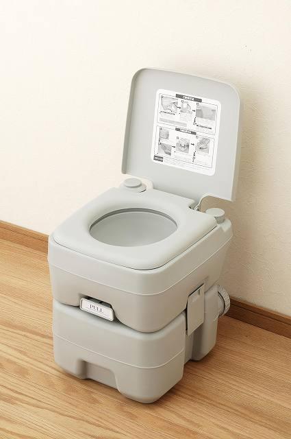 本格派ポータブル水洗トイレ 20L【送料無料】(簡易トイレ、防災グッズ、介護用品、レジャー用品、車渋滞時に)