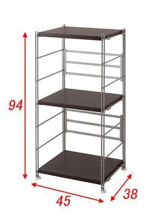 頑丈棚オープンラック 幅45高さ94cm ダークブラウン nj-0288【送料無料】(オープンラック、シェルフ、リビング家具、収納家具、本棚、書棚)