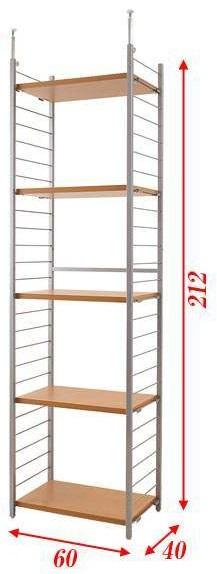 突っ張り壁面間仕切りラック幅60cm パネル無しタイプ(ホワイト色 /ナチュラル色) nj-0191【送料無料】(壁面収納、収納家具、シェルフ)