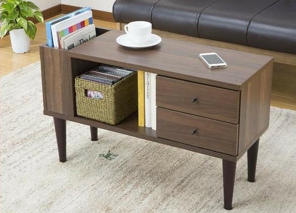 向きが変わるサイドテーブル  LT-600【送料無料】(座卓、ローテーブル、センターテーブル、木製テーブル)