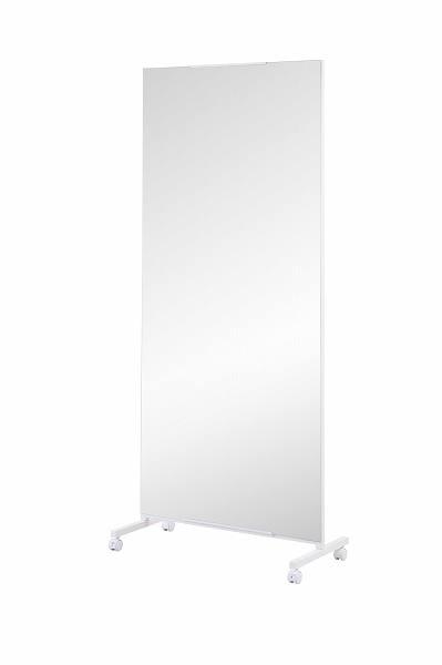 キャスター付き大型ミラー 幅80cm 【送料無料】(ミラー、姿見鏡、鏡、スタンドミラー、ウォールミラー、インテリア雑貨)