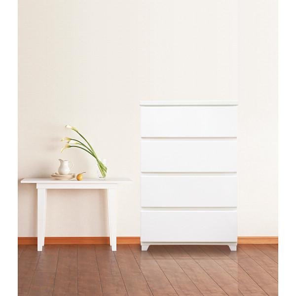 カラースタイルチェストワイド4段ホワイト/C-STYLE-W4WH【送料無料】(チェスト、タンス、収納家具、キャビネット)