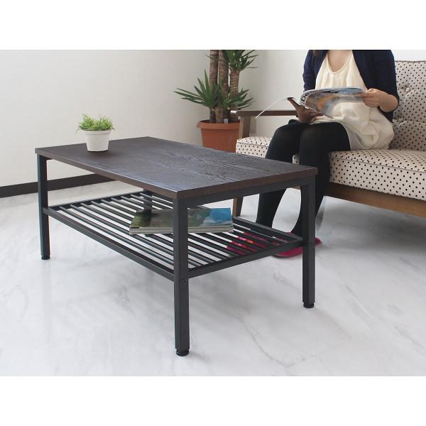 センターテーブルブラウン/ブラック/43-110BR【送料無料】(リビングテーブル、ローテーブル、センターテーブル)