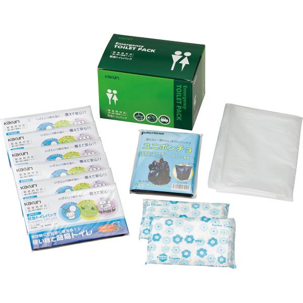 緊急トイレパック6個セットTPS-25/【送料無料】(簡易トイレ、防災グッズ、介護用品、レジャー用品)