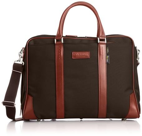 【日本製】【EVERWIN】ビジネスバッグ メンズ レディース 革付属 軽量(21600)ブラウン/ブラック/グレー/ネイビー 【送料無料】(ビジネスバッグ、ブリーフケース、リクルートバッグ、カバン、かばん、鞄)como-1087203
