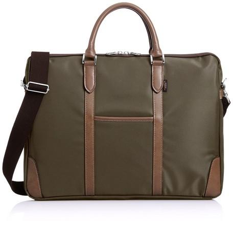 【日本製】【EVERWIN】ビジネスバッグ メンズ レディース 革付属 軽量 カーキ(21595) 【送料無料】(メンズバッグ、トートバッグ、ビジネスバッグ、カバン、かばん、鞄)
