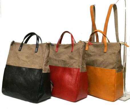 日本製 クロスト 牛革×帆布 リュック 全3色 (SD0049) 【送料無料】(デイパック、リュックサック、鞄、カバン)
