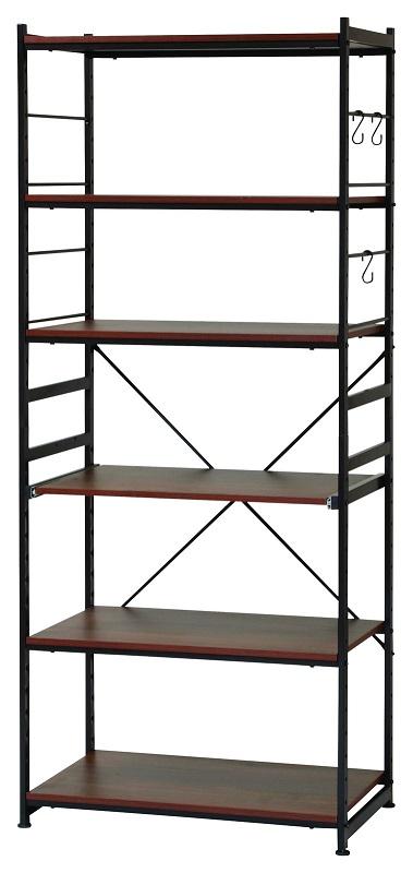 サラ スチールラックSSR-75W(ワイドタイプ) (W750×D425×H1800 mm)【送料無料】(オープンラック、シェルフ、リビング家具、収納家具、本棚、書棚、店舗用品)