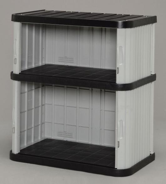 ミニロッカー ブラック/グレー ML-1050V (W900×D520×H1000) 【送料無料】(物置、収納庫、ストレージ、ラック、収納ボックス、ケース、ガーデニング)