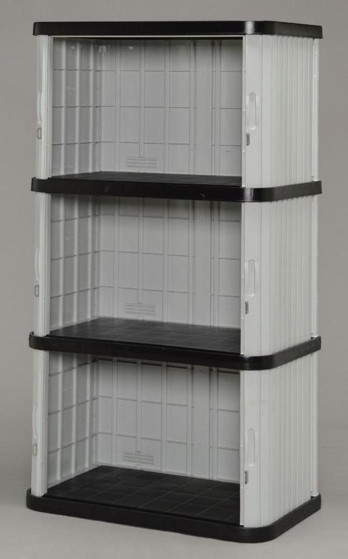 ミニロッカー ブラック/グレー ML-1700V (W900×D520×H1700) 【送料無料】(物置、収納庫、ストレージ、ラック、収納ボックス、ケース、ガーデニング)