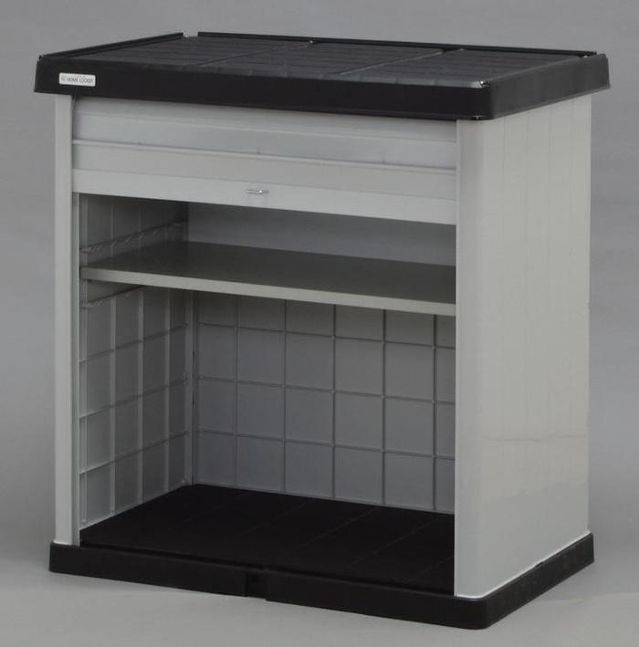 ホームロッカー ブラック/グレー HL-900V (W860×D570×H910) 【送料無料】 (物置、収納庫、ストレージ、ラック、収納ボックス、ケース、ガーデニング)