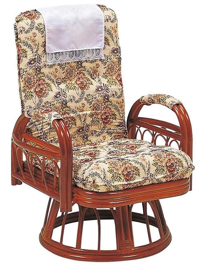 (8月中旬入荷)【RATTAN CHAIR】ギア回転座椅子 RZ-923【送料無料】(籐座椅子、ラタンチェアー、イス)(ランキング受賞・座椅子 籐ランキング 3位、2020/7/8デイリー)