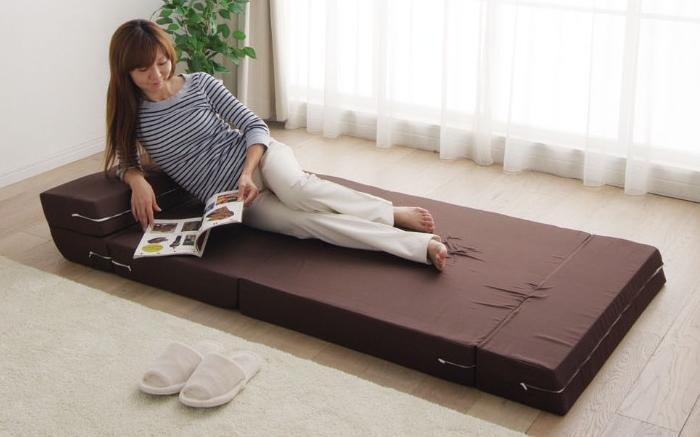 《シングルサイズ》ソファマットレス ブラウンMSO-S  【送料無料】(ベッド用寝具、マットレス)