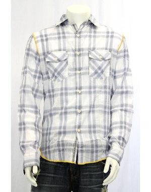 【ARNOLD ZIMBERG/アーノルドジンバーグ】チェックシャツ(ホワイト×グレー・WHT×GRY)/メンズ【インポート】【セレカジ】【正規品】【after0608】