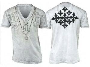 【THE SAINTS SINPHONY/セインツシンフォニー】FLORlDA SNOW・Tシャツ(半袖・Vネック・ホワイト・WHT)/メンズ【インポート】【セレカジ】【正規品】