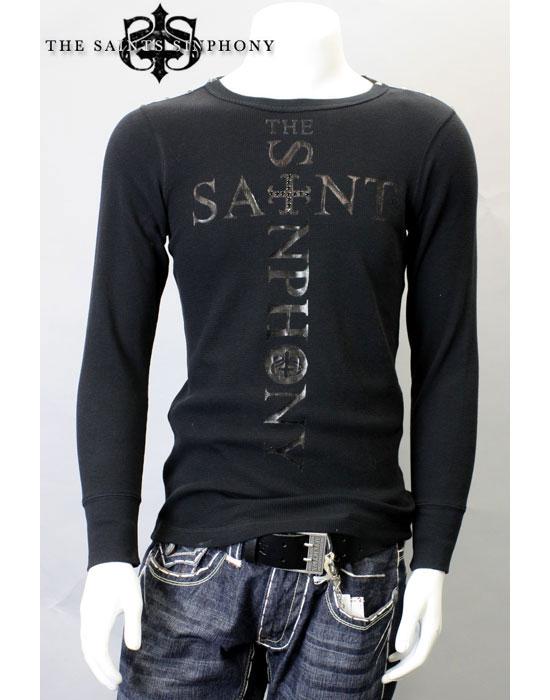 6/22再入荷【THE SAINTS SINPHONY/セインツシンフォニー】ESTRANGED・Tシャツ(長袖・ブラック・BLK)/メンズ【インポート】【セレカジ】【正規品】
