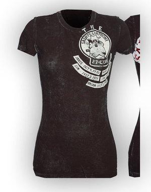 【THE SAINTS SINPHONY/セインツシンフォニー】FREEBIRD・Tシャツ(半袖・クルーネック・ブラック・BLK)/レディース【インポート】【セレカジ】【正規品】