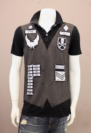 【THE SAINTS SINPHONY/セインツシンフォニー】KING COBRA ・ポロシャツ(ブラック・BLK)/メンズ【インポート】【セレカジ】【正規品】