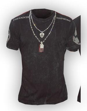 送料無料 LA直輸入 大人気セレブブランド THE SAINTS SINPHONY セインツシンフォニー WHISKY DOUBLE ブラック 人気上昇中 半袖 Tシャツ メンズ 正規品 [正規販売店] クルーネック セレカジ BLK インポート