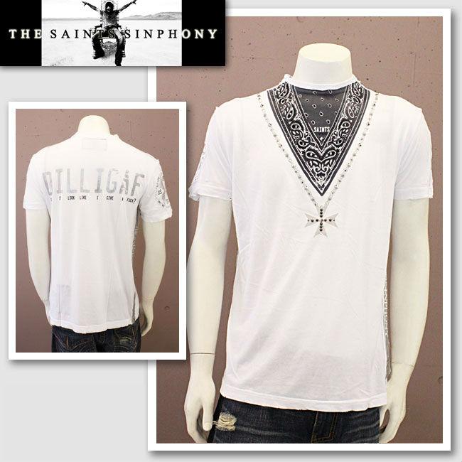 【THE SAINTS SINPHONY/セインツシンフォニー】SNOW BIRD・Tシャツ(半袖・CREWネック・ホワイト・WHT)/メンズ【インポート】【セレカジ】【正規品】